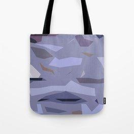 Fragmented Violet Tote Bag
