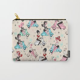 Scooter Girls Pattern Carry-All Pouch