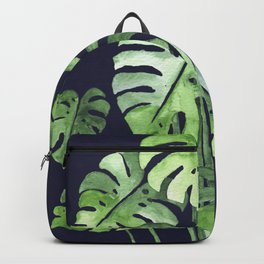 Delicate Monstera Blue #society6 Backpack