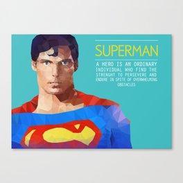 PolyHero Superman  Canvas Print