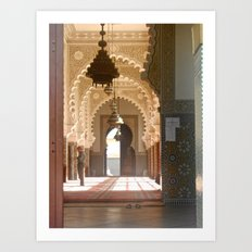 Mosque in Tangier, Morocco Art Print