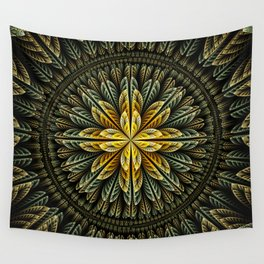 Autumn fantasy flower and petals Wall Tapestry