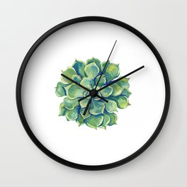November Succulents Wall Clock