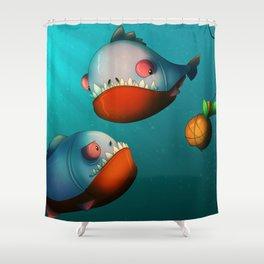 Hungry Piranhas Shower Curtain