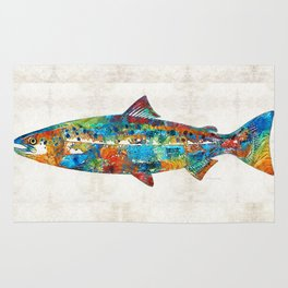 Fish Art Print - Colorful Salmon - By Sharon Cummings Rug