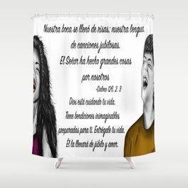 Risas - Salmo 126, 2. 3 Shower Curtain