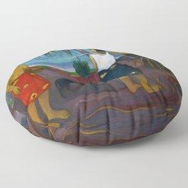 Under the Pandanus by Paul Gauguin Floor Pillow