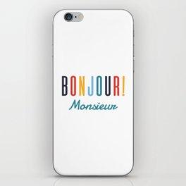 Bonjour! Monsieur iPhone Skin