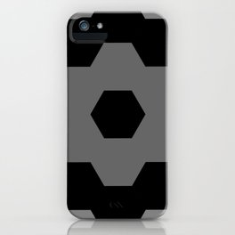 tiles black and grey pattern iPhone Case