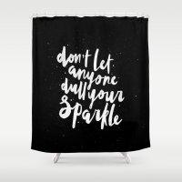 sparkle Shower Curtains featuring Sparkle by Evelyne van den Broek
