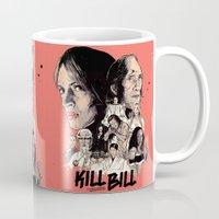kill bill Mugs featuring Kill Bill by RJ Artworks
