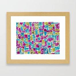 Squiggles & Giggles Framed Art Print