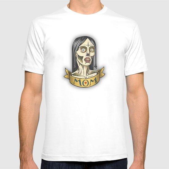 'Mom' Zombie Tattoo print T-shirt