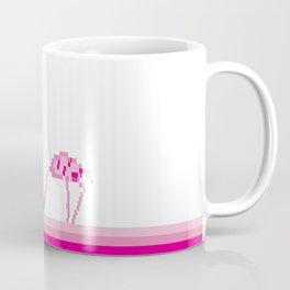 Pink flamingo pixel Coffee Mug