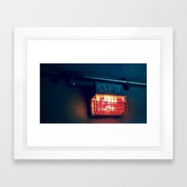 Tunnel Light - Retro Framed Art Print