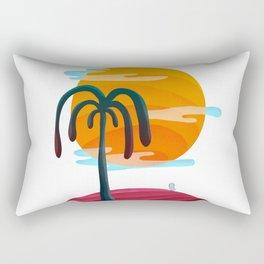 058 - Cute little Owly relaxing on the island Rectangular Pillow