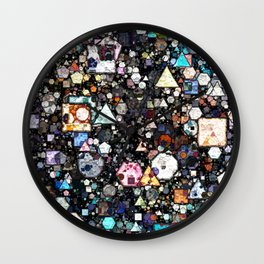 Colorful Layers of Geometric Shapes Wall Clock