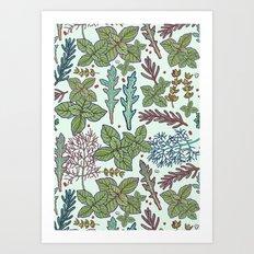 herbs pattern Art Print