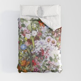 Spring riot of flowers - Courbet inspired Comforters