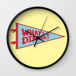 What's 4 Dinner Wall Clock