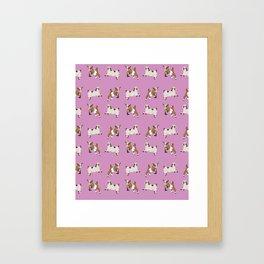 Baesic Prancing Goats Framed Art Print