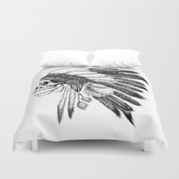 vans Duvet Covers featuring Native American by Motohiro NEZU