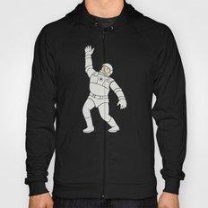 Astronaut Waving Front Cartoon Hoody