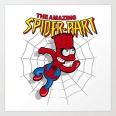 Spiderbart: the Simpsons superheroes (Bart Simpson meets spider-man)  Art Print