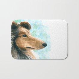 Rough Collie dog Bath Mat