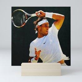 Nadal Tennis Over the Head Forehand Mini Art Print