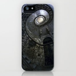 Spiral Staircase in blue and gray tones iPhone Case