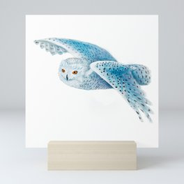 Flying Snowy Owl Mini Art Print