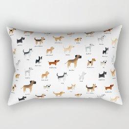 Lots of Cute Doggos - With Names Rectangular Pillow