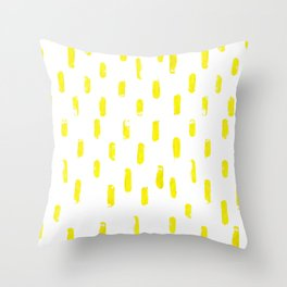 Yellow Ubiquitees Throw Pillow