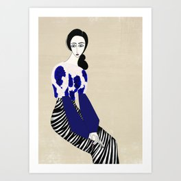 Henri Matisse inspired fashion #3 Art Print