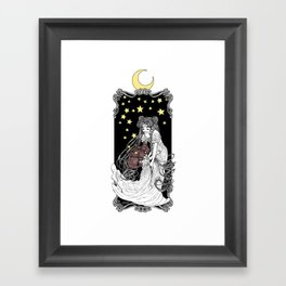 The Rabbits in the Moon Framed Art Print