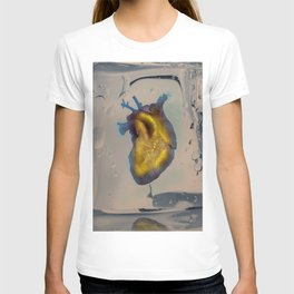 Heart of Gold encased in ice T-shirt