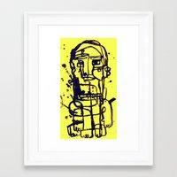 sandman Framed Art Prints featuring sandman by melis basmaci