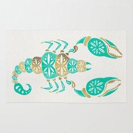 Scorpion – Turquoise & Gold Rug