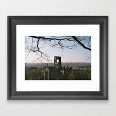 Kirkstall Abbey from the hill... Framed Art Print