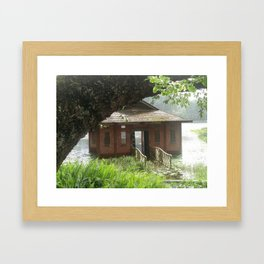 The beauty in drowning Framed Art Print