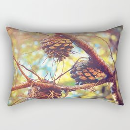 Autumn pine cones  #photography Rectangular Pillow