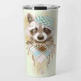 Rocco Raccoon - earth tones Travel Mug