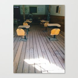 Creepy School House Canvas Print