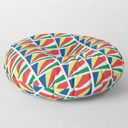 flag of seychelles - Seychellois,Seychelloise, Seselwa,victoria,mahé Floor Pillow