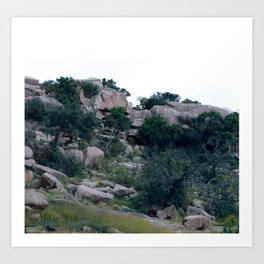 enchanted rock  Art Print