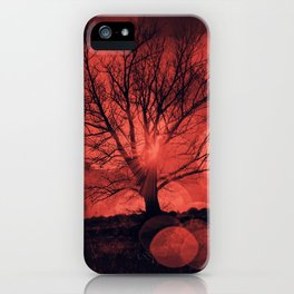 mars tree - tree silhouette in backlight iPhone Case