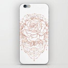 Mandala Lunar Rose Gold iPhone Skin