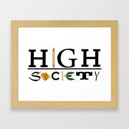 High Society Logo2 Framed Art Print