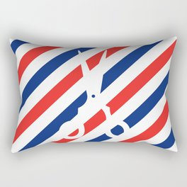 Barber Scissors Rectangular Pillow